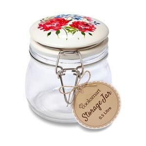 Skleněná dóza Cooksmart England Floral Romance, 0,5 l