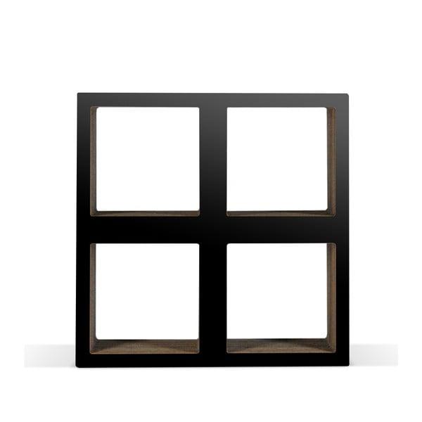 Kartonová knihovnička Bit  Square Black
