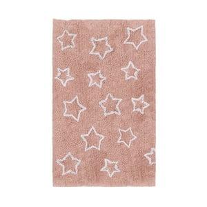 Covor pentru camera copiilor Tanuki White Stars, 120 x 160 cm, roz