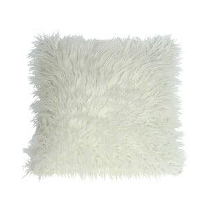 Bílý chlupatý polštář HF Living Fluffy, 45x45cm