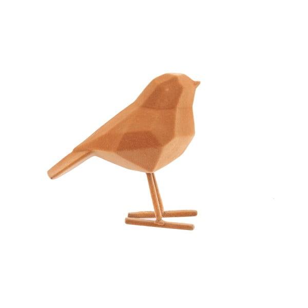 Hnedá dekoratívna soška PT LIVING Bird, výška 17 cm