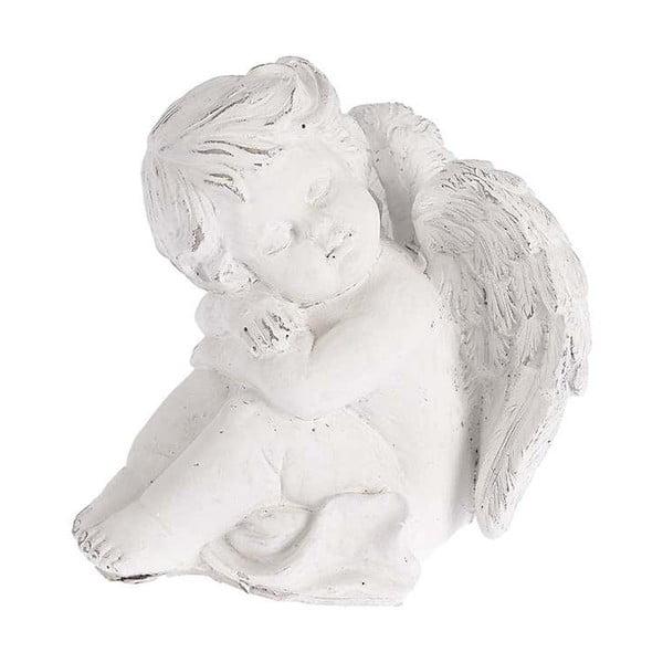Keramický andílek, 17x18 cm, bílý