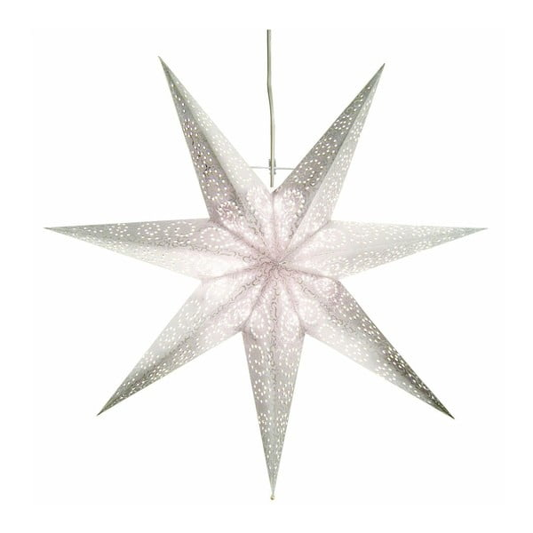 Závěsná svítící hvězda Antique Snow, 60 cm