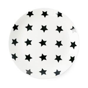 Keramický talíř Miss Étoile Black Stars, ⌀ 17 cm