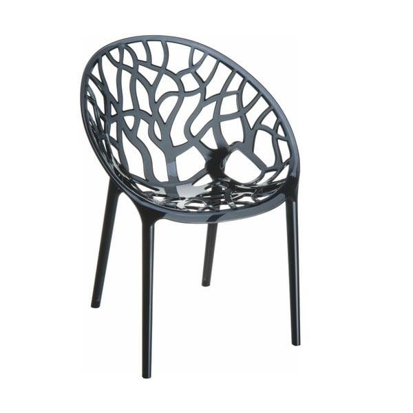 Židle Crystal Black Transparent