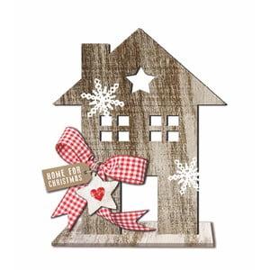 Dřevěná vánoční dekorace PPD House Country Xmas, výška 20 cm