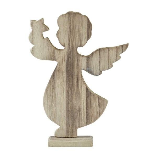 Dekorativní soška KJ Collection Angel Natural Wood