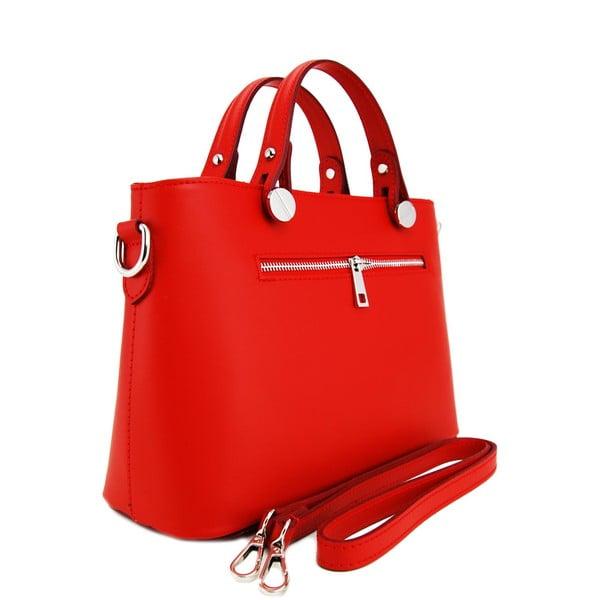 Kožená kabelka Adelaide Rosso