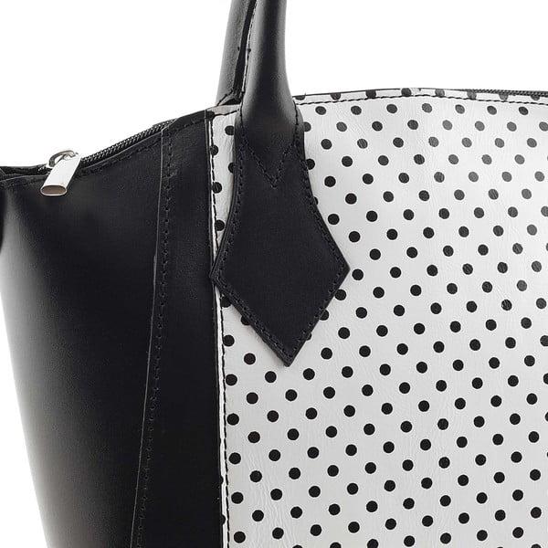 Kožená kabelka Gress Pois Black