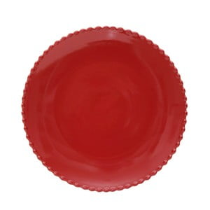 Rubínově červený kameninový talíř Costa Nova Pearl, ⌀28cm