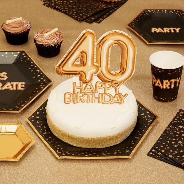 Papírová dekorace na dort s číslem 40 Neviti Topper