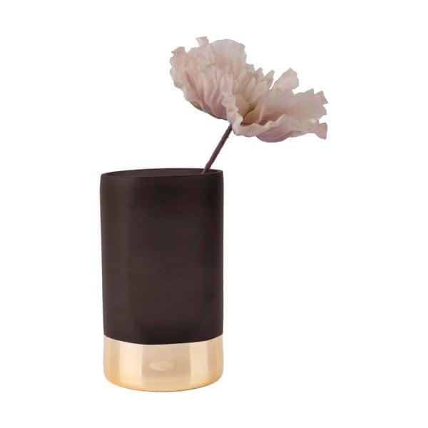 Černo-zlatá váza PT LIVING Glamour, výška 20 cm