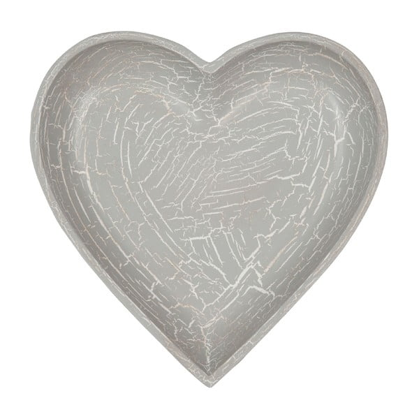 Dřevěný tác Grey Heart