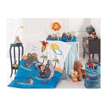 Set lenjerie de pat pentru copii Doplhins 100 x 150 cm