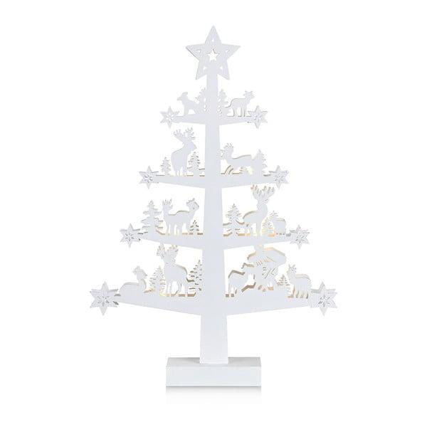 Bílá svítící dekorace Markslöjd Prince, výška 47 cm
