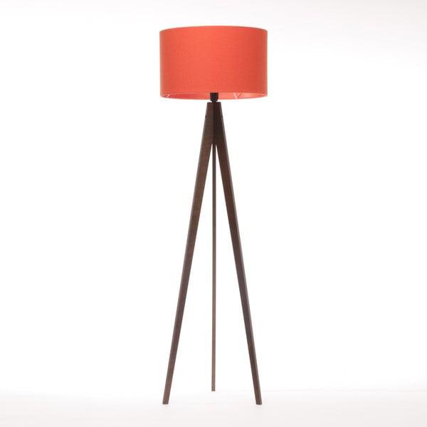 Stojací lampa Artist Red Felt/Dark Brown, 125x42 cm