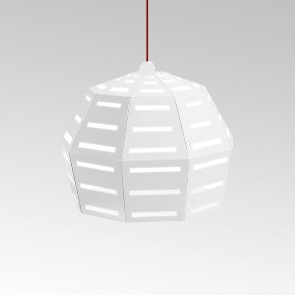 Kartonové svítidlo Uno Fantasia D White, s červeným kabelem