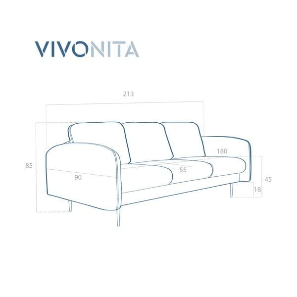 Světle tyrkysová 3místná sedačka Vivonita Skolm