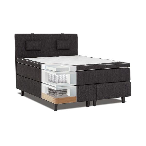 Černá postel s matrací Gemega Grand, 160x200 cm