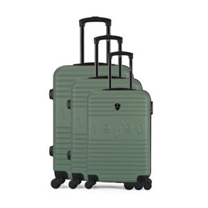 Sada 3 zelených cestovních kufrů na kolečkách GENTLEMAN FARMER Cadenas Integre