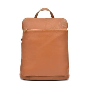 Koňakově hnědý dámský kožený batoh Isabella Rhea Gunna Cognac