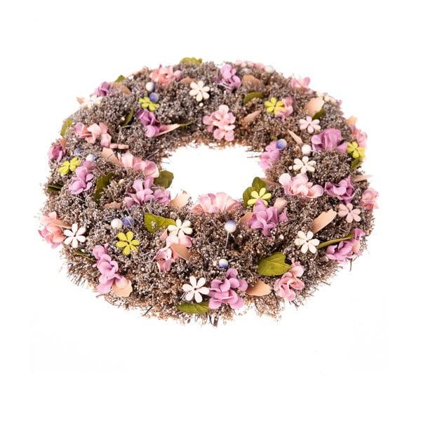 Závěsný věnec s květinami Dakls Tina, ⌀ 30 cm