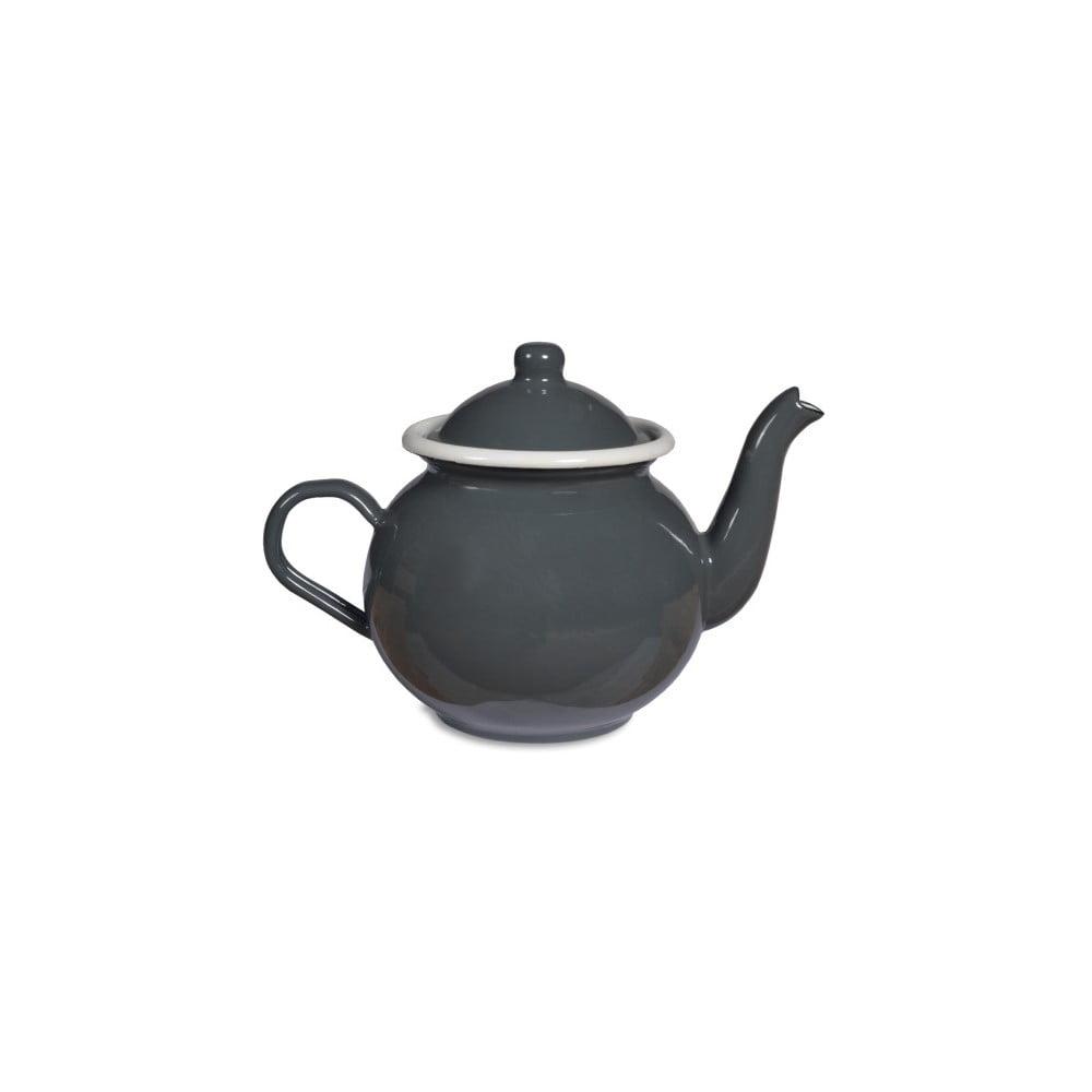 Šedá smaltovaná konvice na čaj Garden Trading Tea, 1 l