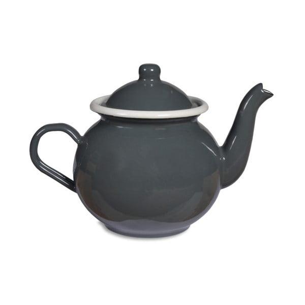 Šedá smaltovaná konvice na čaj Garden Trading Tea, 1l