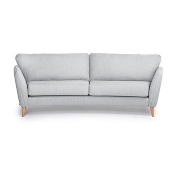 Canapea cu 3 locuri Softnord Paris, gri deschis