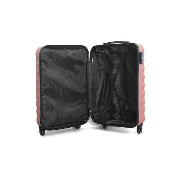 Sada 3 růžových cestovních kufrů na kolečkách Hero Jakarta