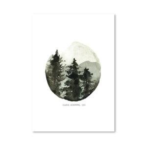 Plakát Brown Mountain, 30x42 cm
