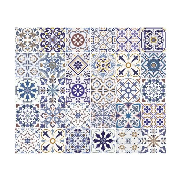 Sada 30 dekorativních samolepek na stěnu Ambiance Riviera, 15 x 15 cm
