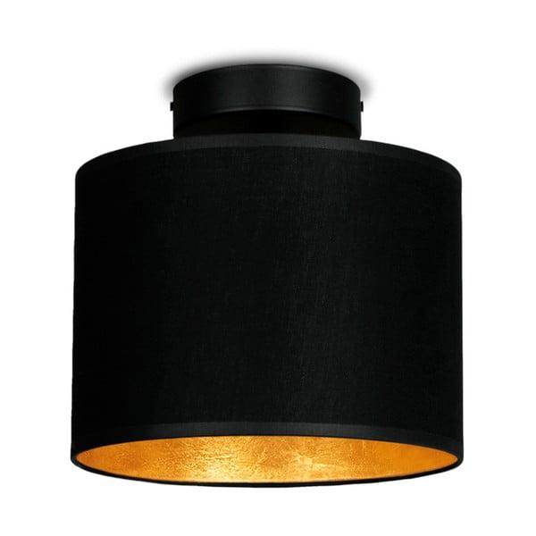 Černé stropní svítidlo s detailem ve zlaté barvě Sotto Luce Mika Elementary XS CP, ⌀20cm