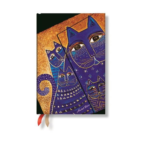 Diář pro rok 2015 Mediterranean Cats 10x14 cm, horizontální výpis dnů