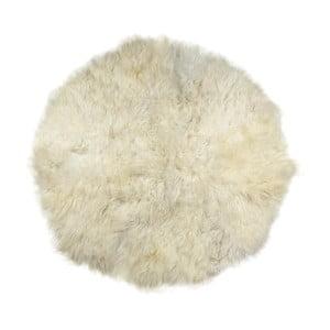 Covor din blană  Rundo, ⌀ 150 cm, alb