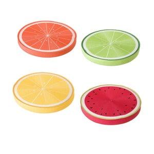 Sada 4 barevných polštářů Unimasa, ⌀38cm