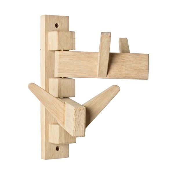 Nástěnný věšák z dubového dřeva se 4 háčky Bizzotto Daiki