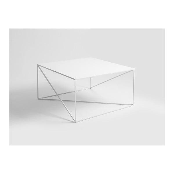 Memo fehér dohányzóasztal, 100 x 100 cm - Custom Form