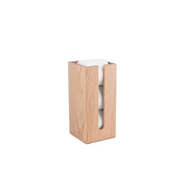 Zásobník na toaletní papír z dubového dřeva Wireworks Mezza