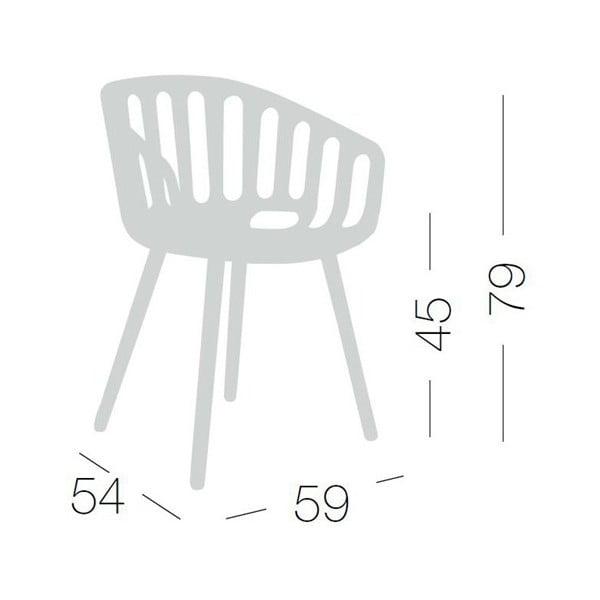 Béžová židle Basket