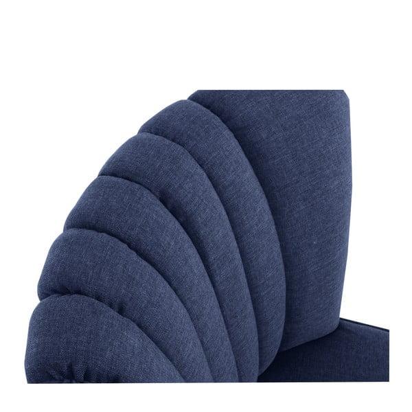 Tmavě modré křeslo Max Winzer Alessandro
