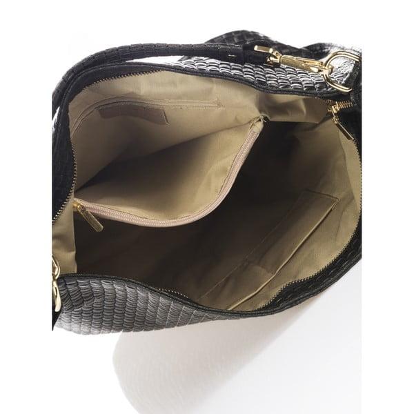 Černá kožená kabelka Giorgio Costa Parma