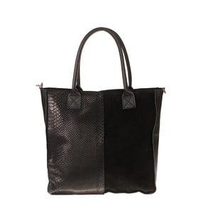 Černá kožená kabelka Pitti Bags Desdemona
