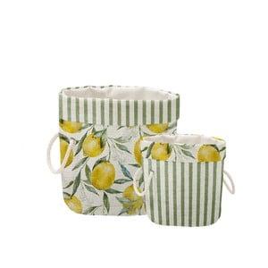 Sada 2 ks dekorativních košů Linen Couture Lemons And Stripes