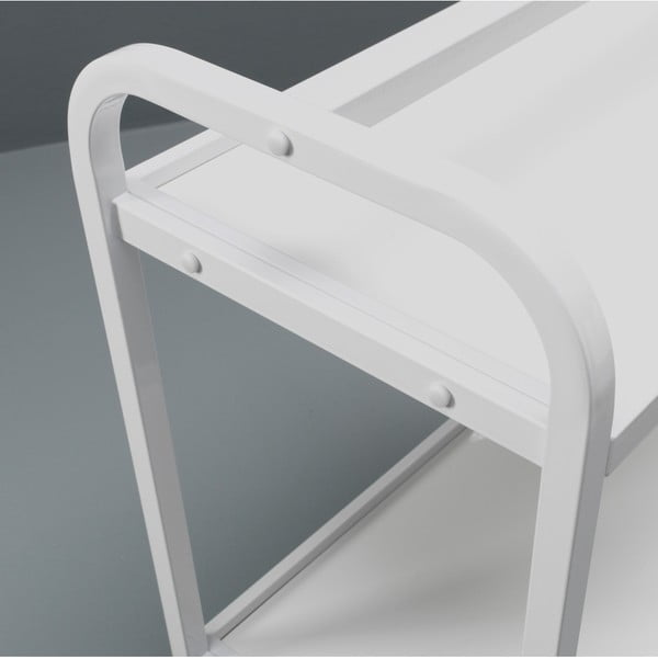 Bílý pojízdný servírovací stolek Design Twist Kansk
