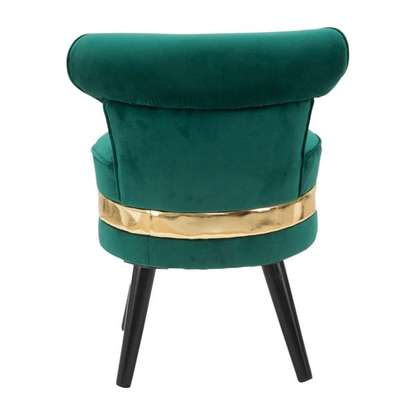 Fotoliu tapițat, cu spătar jos Mauro Ferretti Paris, verde închis