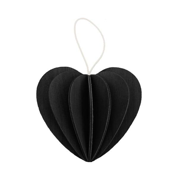 Skládací pohlednice Heart Black, 4.5 cm