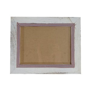 Bílý dřevěný rám na fotografie Mendler Shabby, 19x24cm