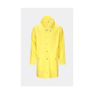 Žlutá unisex bunda s vysokou voděodolností Rains Long Jacket, velikost L/XL
