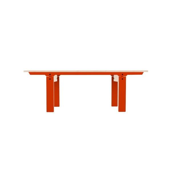 Oranžová lavice na sezení rform Slim 04, délka 133 cm